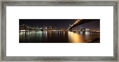 Pano Manhattan Large Framed Print by Paslier Morgan