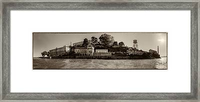 Panorama Alcatraz Torn Edges Framed Print by Scott Campbell