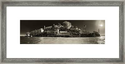 Panorama Alcatraz Up Close Framed Print