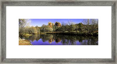 Panorama At Red Rocks Crossing In Sedona Az Framed Print by Teri Virbickis