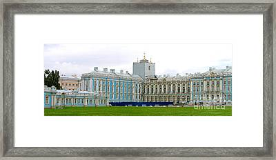 Framed Print featuring the photograph Panorama Catherine Park Castle by Art Photography