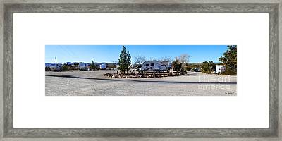 Panorama Cedar Cove Rv Park Street 2 Framed Print by Roena King