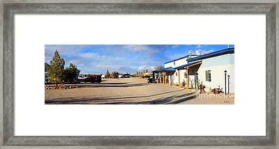 Panorama Cedar Cove Rv Park Street 3 Framed Print by Roena King