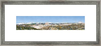Panorama From Flagstaff Mountain Framed Print by Anne Gifford