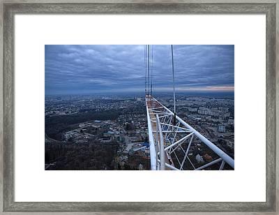 Panorama From Vinnytsya Tv Tower 1 Framed Print by Zoriy Fine
