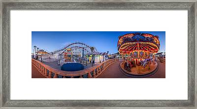 Panorama Giant Dipper Goes 360 Round And Round Framed Print by Scott Campbell