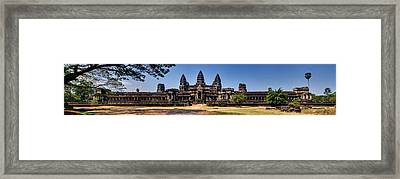 Framed Print featuring the photograph Panorama - Hi-res - National Heritage In Angkor Wat Cambodia by Afrison Ma