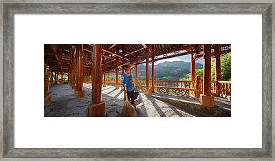Framed Print featuring the photograph Panorama - Hi-res - Wooden Bridge And It's Cleaner by Afrison Ma