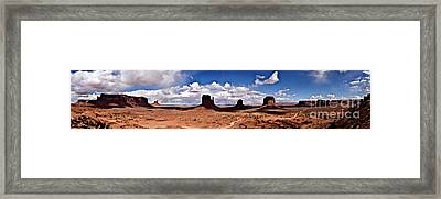 Panorama - Monument Valley Park Framed Print