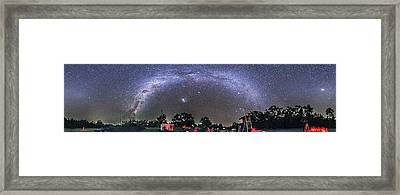 Panorama Of A Southern Hemisphere Star Framed Print by Alan Dyer