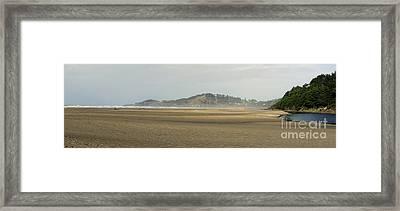 Panorama Of Agate Beach Framed Print