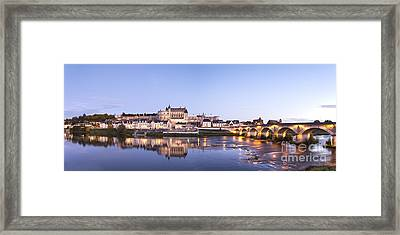Panorama Of Amboise Loire Valley France Framed Print by Colin and Linda McKie