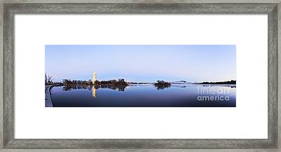 Panorama Of Canberra Australia Framed Print by Colin and Linda McKie