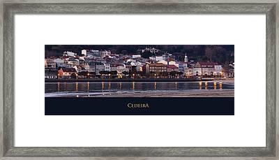 Panorama Of Cedeira Galicia Spain Framed Print