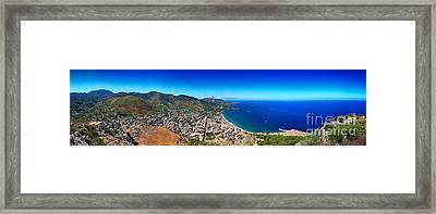 Panorama Of Cefalu Framed Print by Stefano Senise