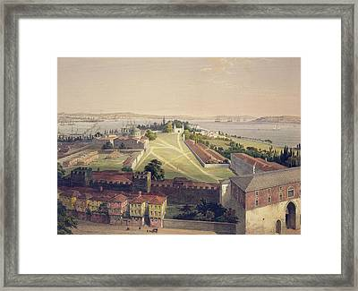 Panorama Of Constantinople, Plate 22 Framed Print