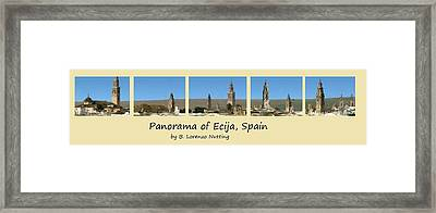 Panorama Of Ecija Spain Framed Print