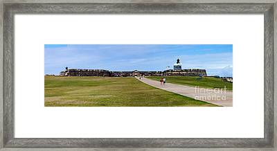 Panorama Of El  Morro Castillo Framed Print by Thomas Marchessault
