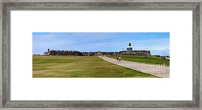 Panorama Of El  Morro Castillo Framed Print by Thomas Marchessault