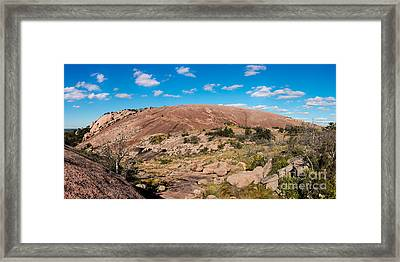 Panorama Of Enchanted Rock State Natural Area - Fredericksburg Texas Hill Country Framed Print