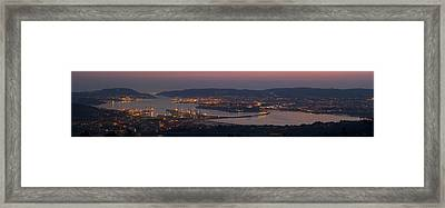 Framed Print featuring the photograph Panorama Of Ferrol From Mount Marraxon Galicia Spain by Pablo Avanzini