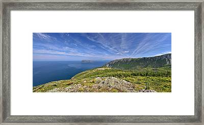 Panorama Of The Outer Bay Of Islands, Newfoundland Framed Print