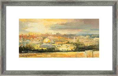 Panorama Of Jerusalem Framed Print