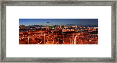 Panorama Of Las Vegas From Mccarran International Framed Print by Silvio Ligutti