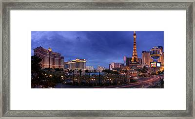 Panorama Of Las Vegas Framed Print