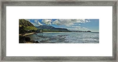 Panorama Of Makaha Beach Framed Print