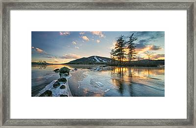 Panorama Of Moose Pond Framed Print by Darylann Leonard Photography