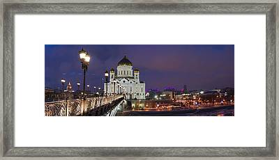 Panorama Of Moscow Cathedral Of The Christ The Savior - Featured 3 Framed Print by Alexander Senin