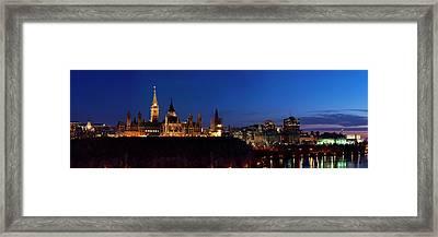Panorama Of Parliament Hill, Ottawa Framed Print