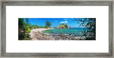 Panorama Of Pebble Beach Framed Print