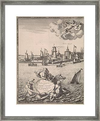 Panorama Of Rotterdam, The Netherlands, Jan Houwens Framed Print