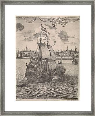 Panorama Of Rotterdam, The Netherlands, Print Maker Framed Print