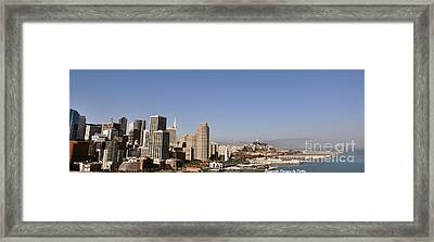 Framed Print featuring the photograph Panorama Of San Francisco by Debby Pueschel