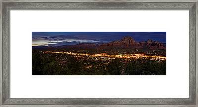 Panorama Of Sedona Red Rocks Arizona Framed Print by Silvio Ligutti