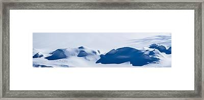 Panorama Of Snowdrifts Framed Print