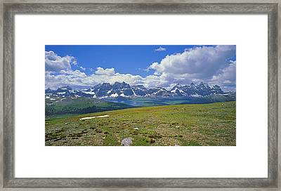 1m3849-panorama Of The Ramparts Framed Print by Ed  Cooper Photography