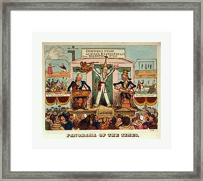 Panorama Of The Times, 1821, A Man, The Celebrated Juggler Framed Print