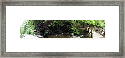 Panorama Of Wolf Creek At Letchworth State Park Framed Print by Rose Santuci-Sofranko