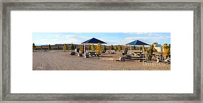 Panorama Outdoor Community Area Framed Print by Roena King