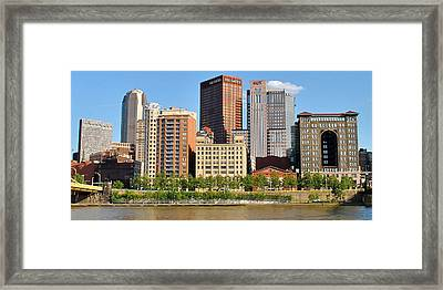 Panorama Over The Allegheny Framed Print by Frozen in Time Fine Art Photography