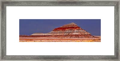 Panorama - Painted Desert 004 Framed Print by George Bostian
