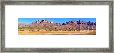 Panorama Sierra Caballo Mountains And Dry Lake Bed Framed Print by Roena King