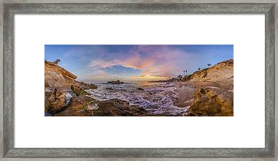 Panorama The Whole Way Round The Cove Framed Print by Scott Campbell