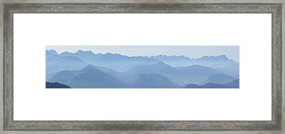Framed Print featuring the photograph Panorama View Of The Bavarian Alps by Rudi Prott