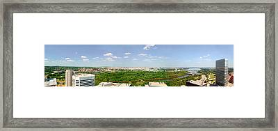 Panoramic Aerial View Of Washington D.c Framed Print