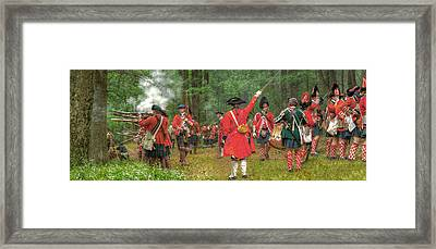 Panoramic Battle Of Bushy Run Framed Print by Randy Steele